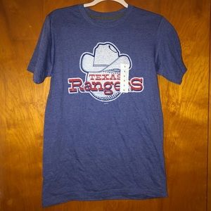 NWT adult mlb Texas rangers T-shirt tee small s